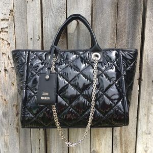 NWT RARE Steve Madden B Storm Tote Quilted Nylon